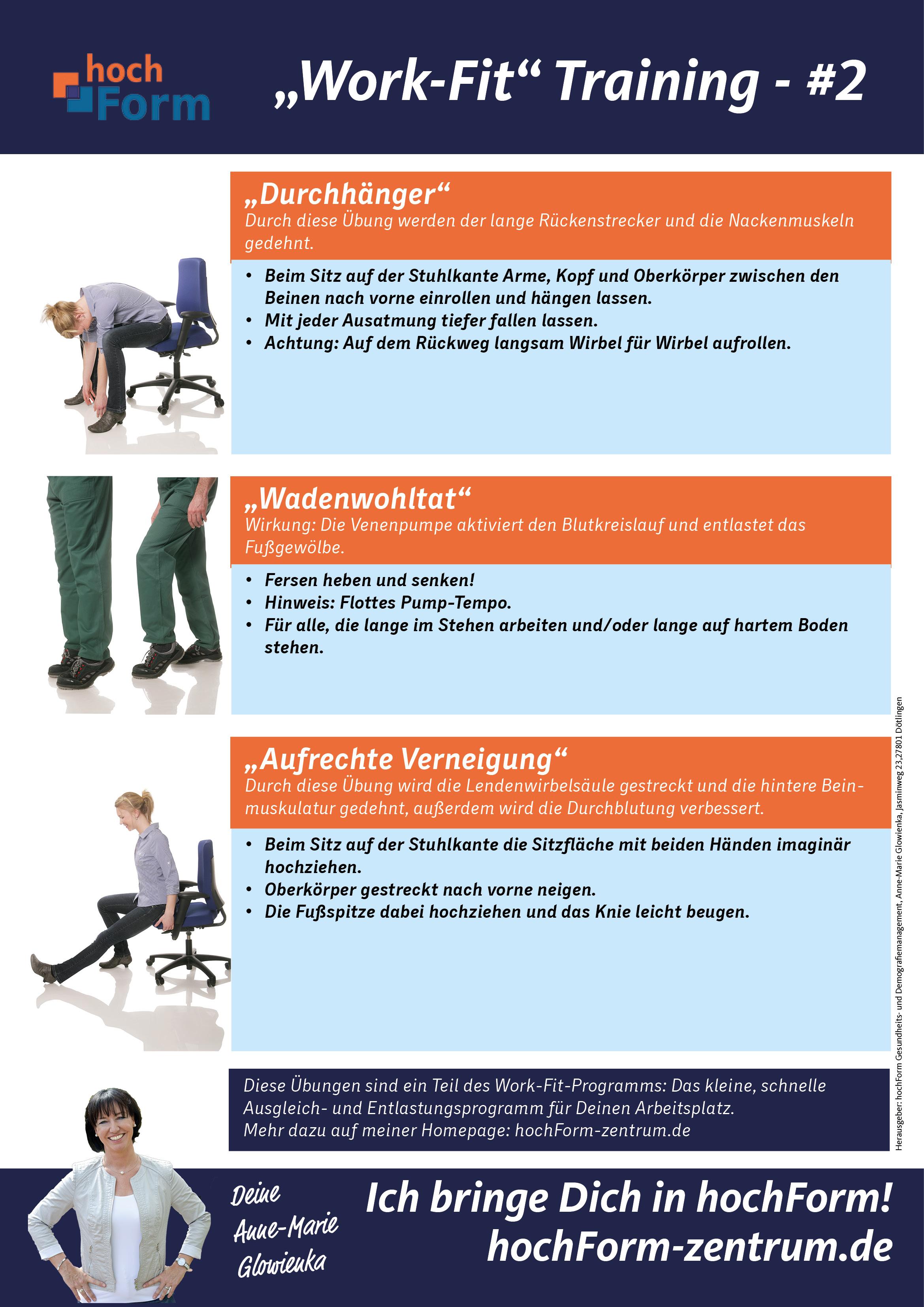 Fit und gesund am Arbeitsplatz mit unserem Work-Fit-Poster